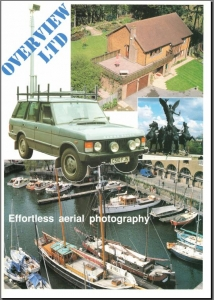 Overview's first products originating from 1985 where innovative camera systems mounted on a telescopic mast to take semi-aerial photographs of houses for estate agents.