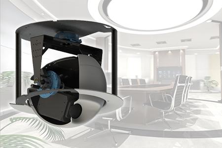 Retractable ceiling mounted pan & tilt camera