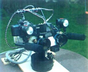 frameless motor stereo vision telepresence robot heads